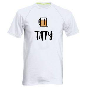 Koszulka sportowa męska Tata i piwo