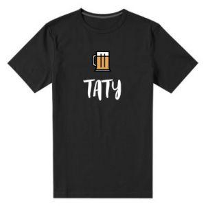 Męska premium koszulka Tata i piwo
