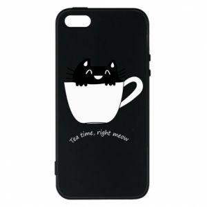 iPhone 5/5S/SE Case Tea time, right meow