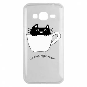 Samsung J3 2016 Case Tea time, right meow