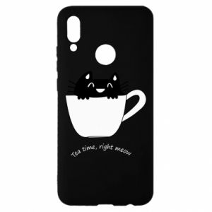 Huawei P Smart 2019 Case Tea time, right meow