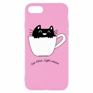 iPhone SE 2020 Case Tea time, right meow