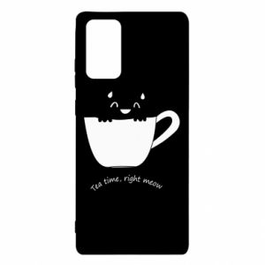 Etui na Samsung Note 20 Tea time, right meow
