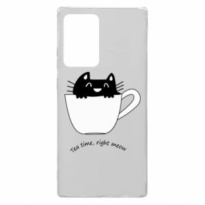 Etui na Samsung Note 20 Ultra Tea time, right meow