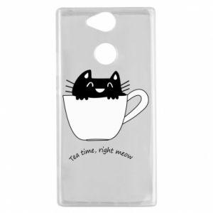Etui na Sony Xperia XA2 Tea time, right meow