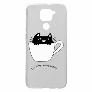 Etui na Xiaomi Redmi Note 9/Redmi 10X Tea time, right meow