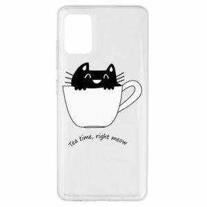 Etui na Samsung A51 Tea time, right meow