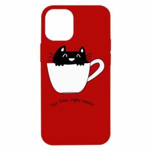 Etui na iPhone 12 Mini Tea time, right meow