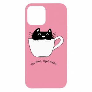 Etui na iPhone 12 Pro Max Tea time, right meow