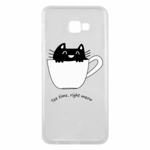 Phone case for Samsung J4 Plus 2018 Tea time, right meow - PrintSalon