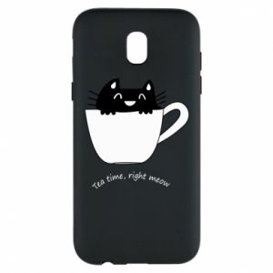 Samsung J5 2017 Case Tea time, right meow