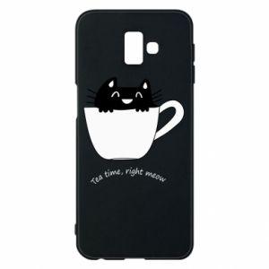 Phone case for Samsung J6 Plus 2018 Tea time, right meow - PrintSalon