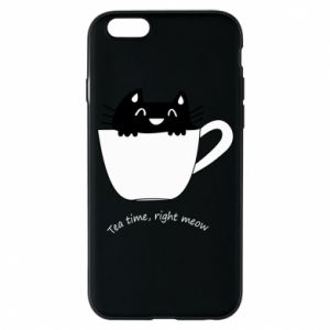 iPhone 6/6S Case Tea time, right meow