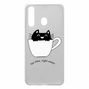 Phone case for Samsung A60 Tea time, right meow - PrintSalon