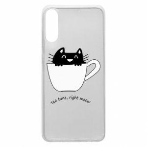 Phone case for Samsung A70 Tea time, right meow - PrintSalon