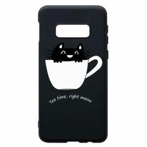 Phone case for Samsung S10e Tea time, right meow - PrintSalon