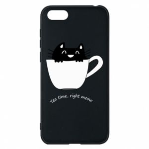 Huawei Y5 2018 Case Tea time, right meow