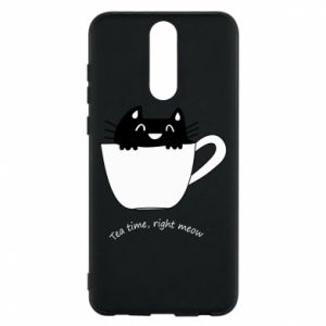 Phone case for Huawei Mate 10 Lite Tea time, right meow - PrintSalon