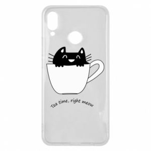 Etui na Huawei P Smart Plus Tea time, right meow