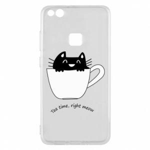 Phone case for Huawei P10 Lite Tea time, right meow - PrintSalon
