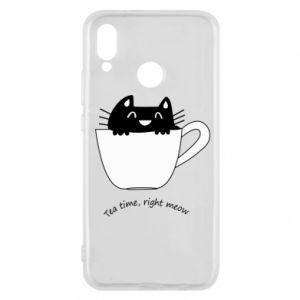 Etui na Huawei P20 Lite Tea time, right meow