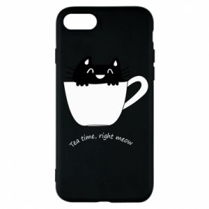 iPhone 7 Case Tea time, right meow