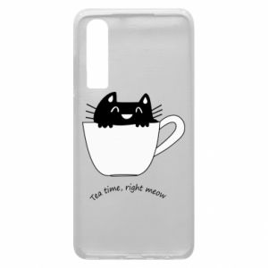 Huawei P30 Case Tea time, right meow