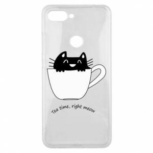 Phone case for Xiaomi Mi8 Lite Tea time, right meow - PrintSalon