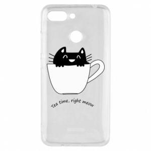 Phone case for Xiaomi Redmi 6 Tea time, right meow - PrintSalon