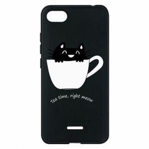Phone case for Xiaomi Redmi 6A Tea time, right meow - PrintSalon