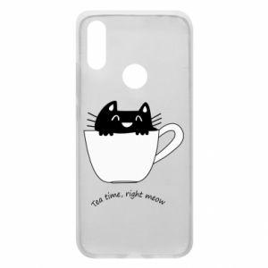 Phone case for Xiaomi Redmi 7 Tea time, right meow - PrintSalon