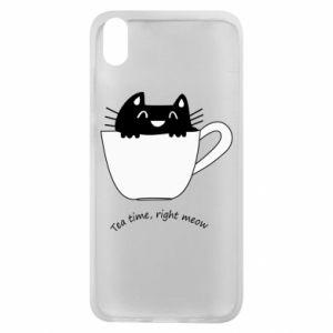 Phone case for Xiaomi Redmi 7A Tea time, right meow - PrintSalon