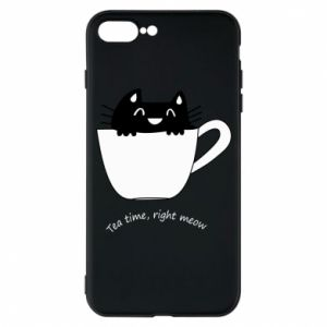iPhone 7 Plus case Tea time, right meow