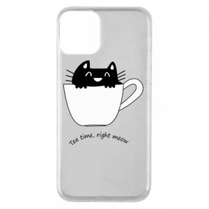 iPhone 11 Case Tea time, right meow