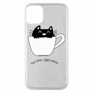 iPhone 11 Pro Case Tea time, right meow