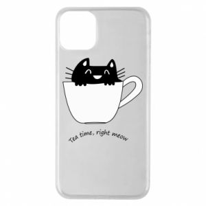 iPhone 11 Pro Max Case Tea time, right meow