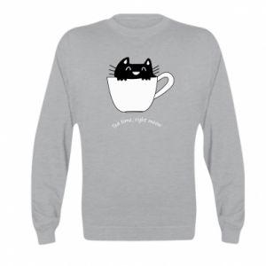 Bluza dziecięca Tea time, right meow