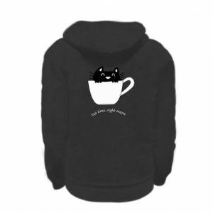 Bluza na zamek dziecięca Tea time, right meow
