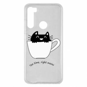 Etui na Xiaomi Redmi Note 8 Tea time, right meow
