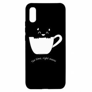 Etui na Xiaomi Redmi 9a Tea time, right meow