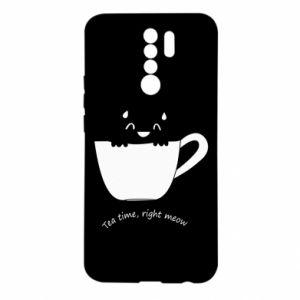 Etui na Xiaomi Redmi 9 Tea time, right meow