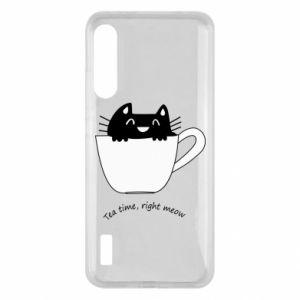 Etui na Xiaomi Mi A3 Tea time, right meow