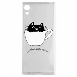 Etui na Sony Xperia XA1 Tea time, right meow