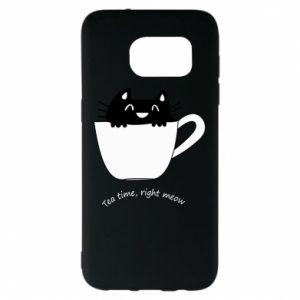 Etui na Samsung S7 EDGE Tea time, right meow