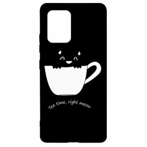 Samsung S10 Lite Case Tea time, right meow