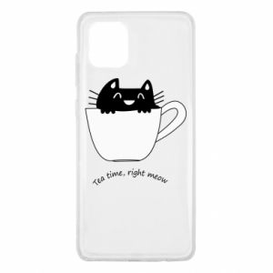Samsung Note 10 Lite Case Tea time, right meow