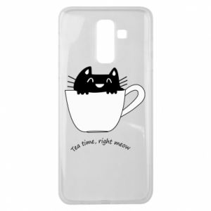 Samsung J8 2018 Case Tea time, right meow