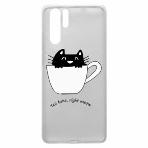 Huawei P30 Pro Case Tea time, right meow