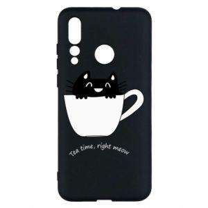 Etui na Huawei Nova 4 Tea time, right meow