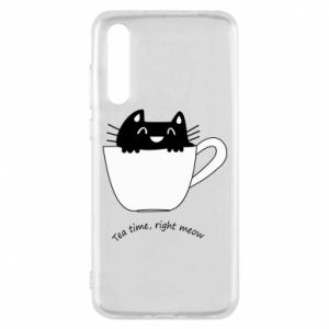 Huawei P20 Pro Case Tea time, right meow